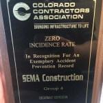 SEMA Receives Industry Safety Award!